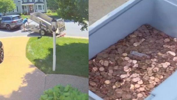 VIDEO) Un hombre pagó la última manutención de su hija tirando 80 mil  monedas de 1 centavo en la casa | Catamarca Online